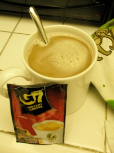 Three-in-one coffee